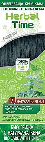 Crema colorante per capelli con estratto di Henné e Ortica - Colore Nero Naturale 7, Senza Ammoniaca, Senza Solfato, Senza Parabeni