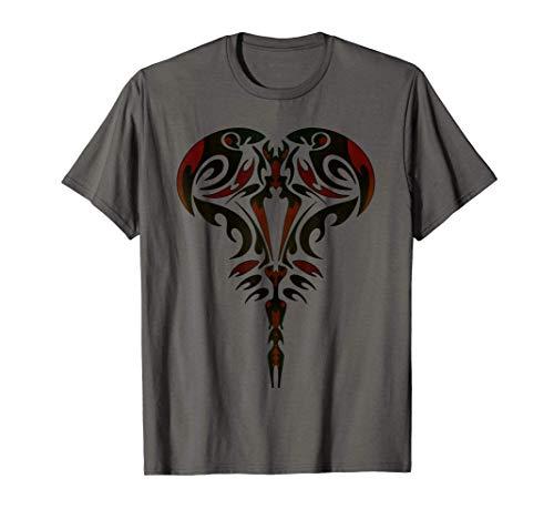 Tribal Scorpione Astrologia Segno zodiacale Tatuaggio Maglietta
