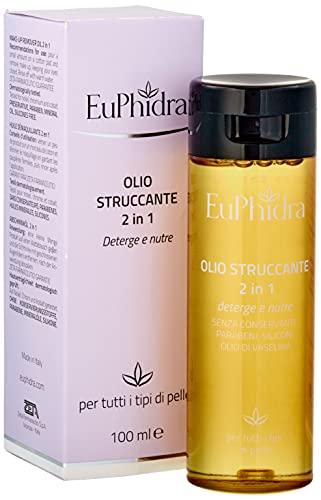 Euphidra Olio Struccante 2 in 1, Detergente Nutriente, Non Unge - 100 Ml. - 0.13 Gr