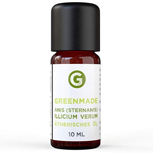 Greenmade - Olio di anice (anice stellato), 10 ml, 100% olio essenziale di anice naturale