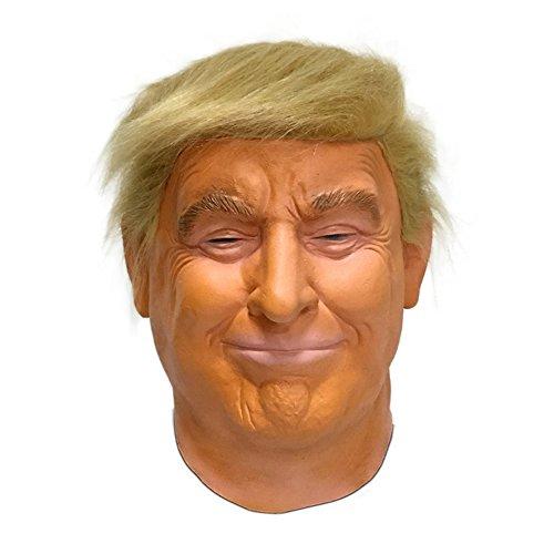 Hengyutoy Mask Donald Trump Maschera - Perfetto per Carnevale e Halloween - Costume Adulto - Lattice, Unisex Taglia Unica