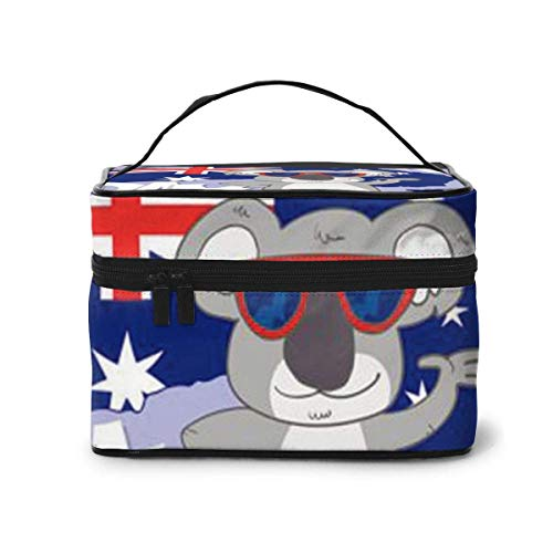 Borse per cosmetici Hand Drawn Australia Day Travel Cosmetic Case Organizer Portable Artist Storage Bag with,Built-in Pocket,Multifunction Case Toiletry Bags for Women Travel Daily
