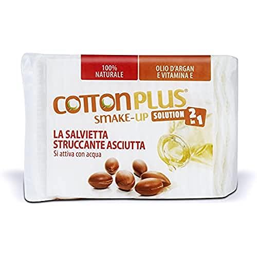 Cotton Plus SMAKE-UP ARGAN MAXI 40 pz.   STRUCCANTE NATURALE! Salviette struccanti asciutte brevettate, senza conservanti, 100% naturali!