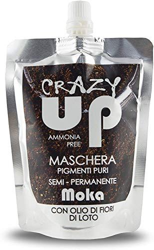 Crazy Up Maschera Colorante Senza Ammoniaca Semipermanente per Capelli - 200 ml (moka)