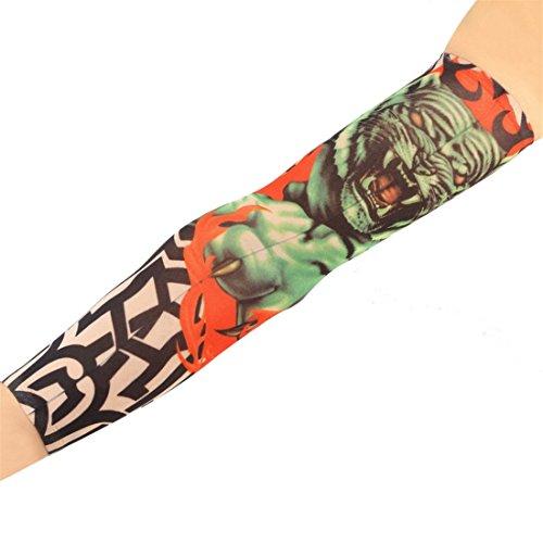 ECYC Stocking Falso del Vestito Operato del Manicotto del Tatuaggio di Fede di 2pcs / Pair, W14