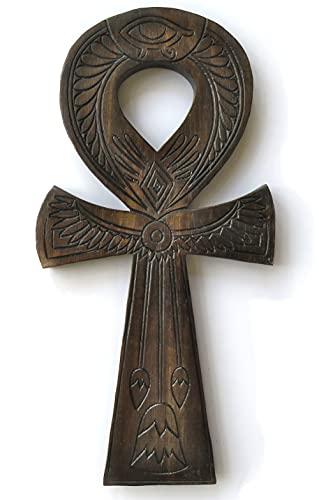 Simbolo Ankh in legno intagliato Geroglifo, Chiave della Vita