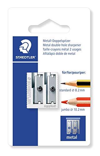 STAEDTLER classico temperino in metallo con lame in metallo, a due fori, 510 20 BK2