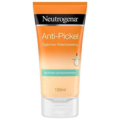Neutrogena, crema viso Visibly Clear contro i brufoli per uso quotidiano, esfoliante per il viso contro i brufoli, 2creme da 150ml (versione in lingua tedesca)