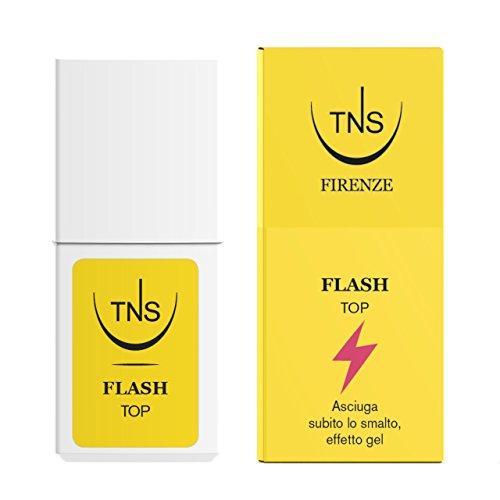 Tns Cosmetics Flash top coat, smalto subito asciutto effetto Gel 10 ml - 1 pz