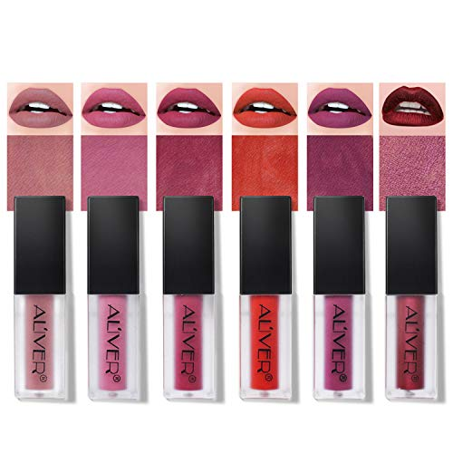Rossetti 6 Pcs Matte Rossetto Lunga Durata Impermeabile Liquid Lipstick Make Up Revolution (6 Pcs)