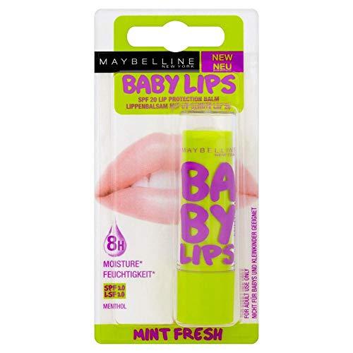 Maybelline Jade - Balsamo labbra Baby Lips, Mint Fresh, 1 pz. (1 x 4 g)