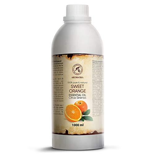 Olio Essenziale di Arancio 1000ml - Allevia la Tensione - Buon Umore - Rilassante - AntiCellulite - Cura Personale - Bellezza - Aromaterapia - Massaggio - SPA - Cura del Corpo