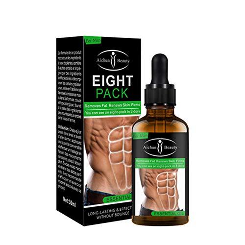 Potente muscolo addominale olio essenziale 30 ML Men Stronger Muscle Eight Pack crema Anti cellulite Fat Burning Perdita di peso per gli uomini Body Fat Reducing Gel
