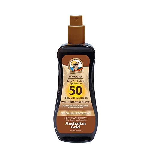 Sunscreen Spf50 Spray Gel With Instant Bronzer 237 Ml