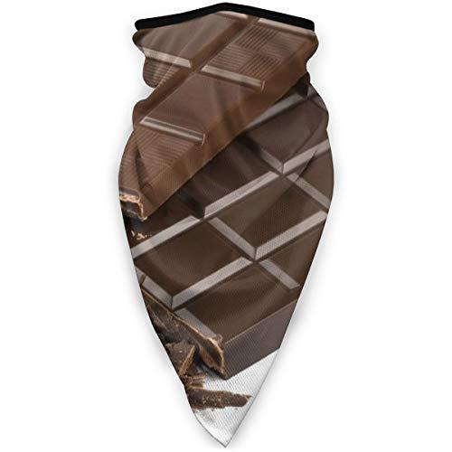 Bjamaj, maschera per il viso e la bocca al cioccolato, antivento, maschera sportiva da sci, sciarpa, bandana, uomo e donna