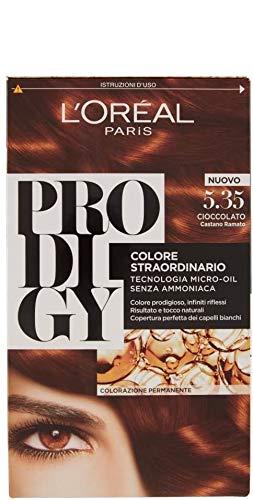 L'Oréal Paris Colorazione Permanente per Capelli Prodigy, 5.35 Castano Ramato Cioccolato