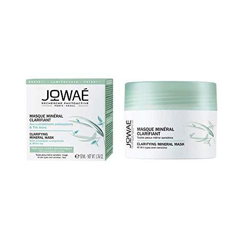 JOWAÉ Maschera Minerale Schiarente Levigante, Esfoliante con Tè Bianco, per Tutti i Tipi di Pelle, anche Sensibile, Formato da 50 ml