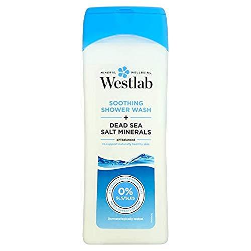 Westlab Soothing Shower Wash Minerali del sale del Mar Morto, Bagnoschiuma rilassante, 400 ml