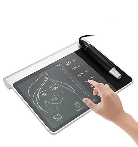 Macchina del tatuaggio Microblading elettrico digitale con penna tattoo per trucco semi-permanente, Pannello touch screen, 4 modalità - sopracciglia/eyeliner/labbra/MTS