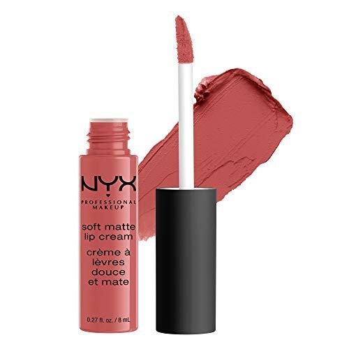 NYX Professional Makeup Soft Matte Lip Cream, Finish Matte e Cremoso, Colore Extra-Pigmentato, Long Lasting, Tonalità: Zurich