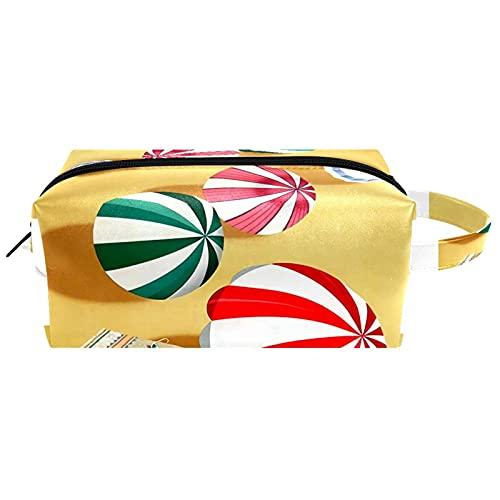 Borsa per il trucco, piccola borsa da viaggio portatile per cosmetici toilette portatile con cerniera di grande capacità ragazza Poster vintage viaggio in Australia Beach