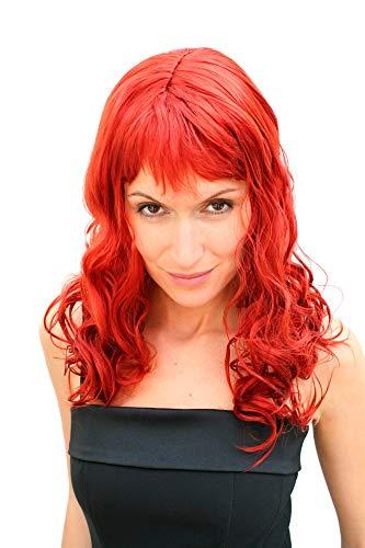 Parrucca Colore Rosso Acceso da Vamp