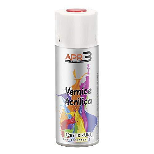 APR3 - S4009001 Smalto Acrilico Spray Multiuso, Colore Bianco Crema RAL 9001, Bomboletta Spray in Banda Stagnata 100% Riciclabile all'Infinito da 400 ml