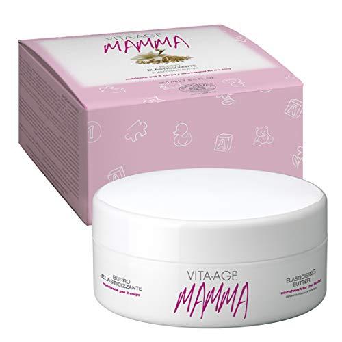 Bottega di LungaVita ® - Burro Corpo Elasticizzante VITA-AGE ® MAMMA - Crema Corpo Naturale -Azione idratante, ridensificante, nutriente - Vaso da 250 ml