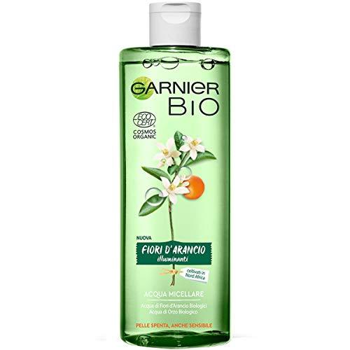 Garnier Bio Acqua Micellare ai Fiori d'Arancio Illuminanti, Formula Arricchita con Acqua di Orzo Biologico e Glicerina Vegetale, 400 ml, Confezione da 1