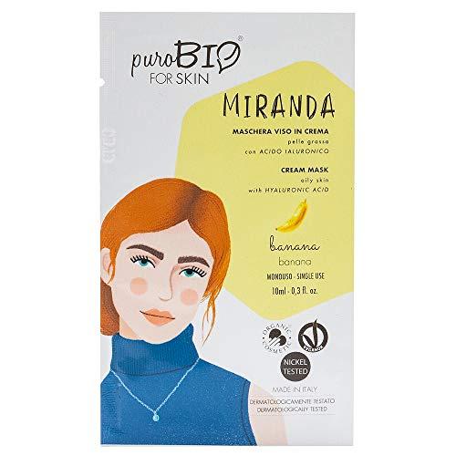 Purobio Miranda Maschera Viso In Crema Per Pelle Grassa, 05 Banana - 10 Ml