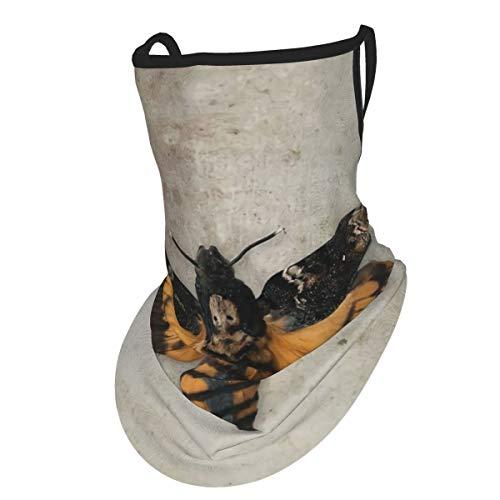 Ameok-Design - Passamontagna in stoffa per orecchie, cervicali, sciarpa, testa di morte, fango, polvere, antivento, protezione dai raggi UV, per pesca, guida, escursionismo, riutilizzabile