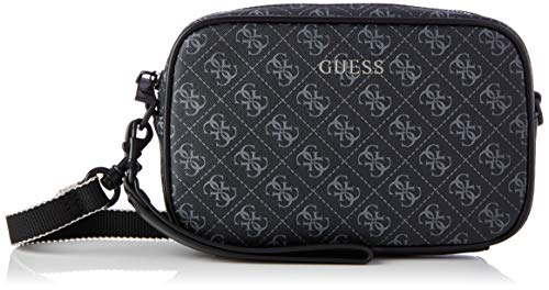 Guess VEZZOLA Small NECESSAIRE, Backpack Uomo, Black, One Size