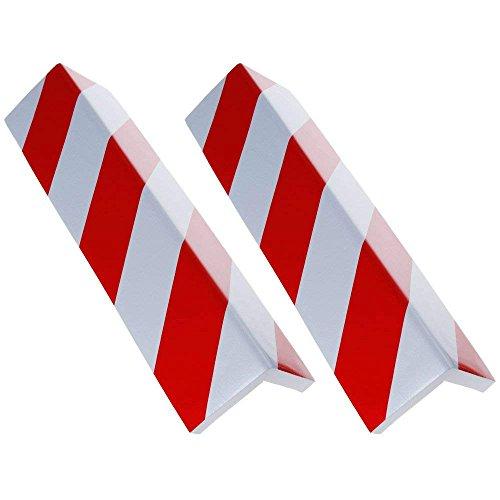 Rovtop 2 Pezzi Paraspigoli per Colonna Garage, Proteggi Auto e Muri, Adatto per l'installazione in un Garage o Parcheggio, Carta Riflettente Rossa e Bianca Assicurano Ottima Visibiltà
