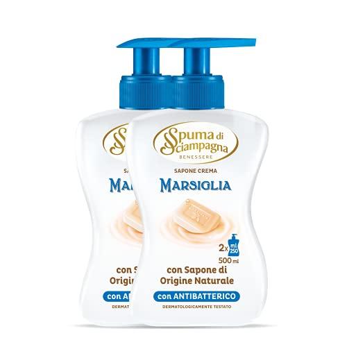 Spuma Di Sciampagna Sapone Liquido Mani Marsiglia 2 Confezione - 500 Ml
