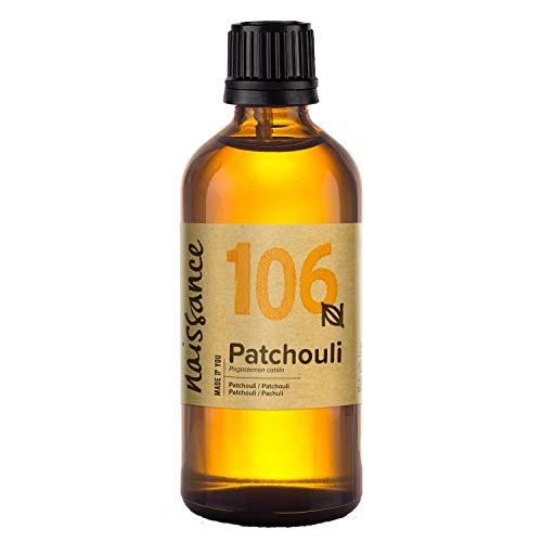 Naissance Olio di Patchouli - Olio Essenziale Puro al 100% - 100ml - Puro, Naturale, Cruelty Free, Vegan e Non Diluito - Aromaterapia, Massaggio e Diffusori - Aroma Sensuale, Dolce e Confortante