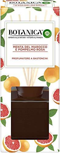 Airwick Botanica, Profumatore per Ambienti con Diffusore a Bastoncini, Fragranza Menta del Marocco e Pompelmo Rosa, Fragranza Naturale, Confezione da 80 ml