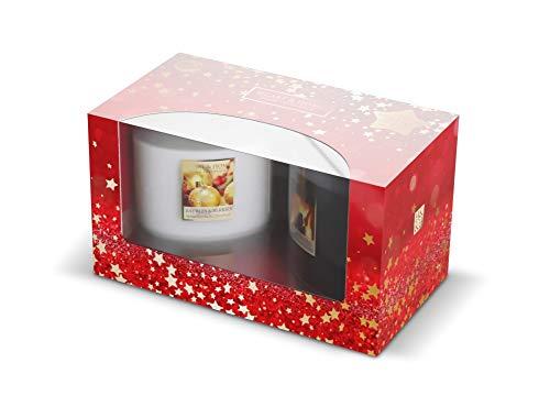 Heart & Home - Set di 2 candele Ellisse con 2 stoppini di Natale e festività incantate