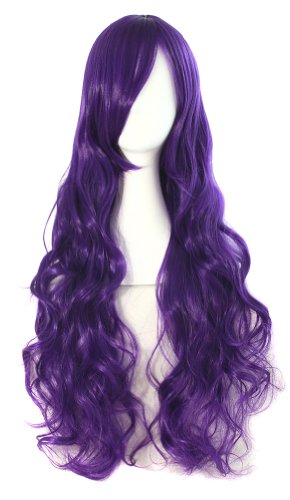MapofBeauty - Parrucca da donna, capelli lunghi, ricci, 80 cm