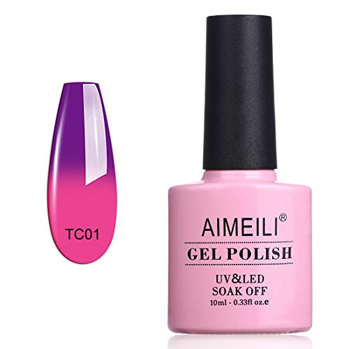 AIMEILI Smalto Semipermanente per Unghie in Gel Soak Off UV LED Smalti Gel per Unghie che Cambia Colore con la Temperatura - Arabian Nights (TC01) 10ml