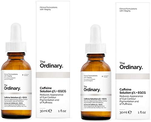 The Ordinary' soluzione di caffeina 5% + EGCG da 30 ml, riduce l'aspetto della pigmentazione del contorno occhi e del gonfiore.