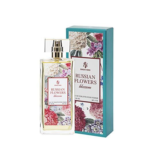 RUSSIAN FLOWERS Eau De Toilette per donne, 100ml - NUOVO profumo di fiori per lei (BLOSSOM)