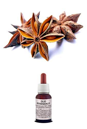 Olio Essenziale 100% Puro ANICE STELLATO Naturale Uso Interno/Esterno (20 ml)