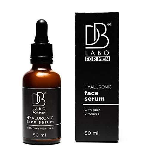 Dblabo Siero Viso Uomo con Acido Ialuronico Puro e Vitamina C - 100% Made In Italy - Anti Rughe Antiage Effetto Immediato