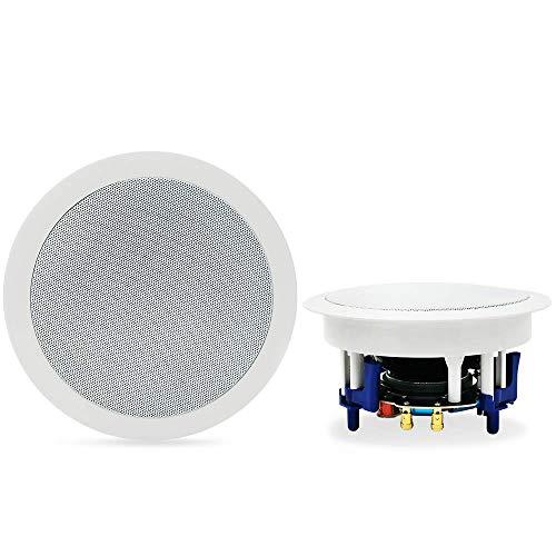 Herdio Altoparlanti da soffitto Bluetooth da 5,25 'Sistema di altoparlanti da casa 300 Watt perfetti per cucina, camera da letto, bagno, home theater, portici coperti Una coppia