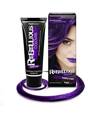 PaintGlow Tinta per Capelli Semi-Permanente Purple Fury - 20 gr