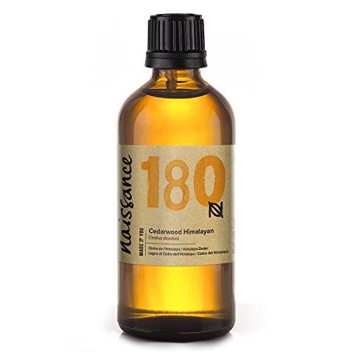 Naissance Olio Essenziale di Legno di Cedro (dell'Himalaya) 100ml - Puro, Naturale, Cruelty Free, Vegan e Non Diluito - Usato in Aromaterapia, Miscele da Massaggio e Diffusori - Aroma Dolce e Intenso