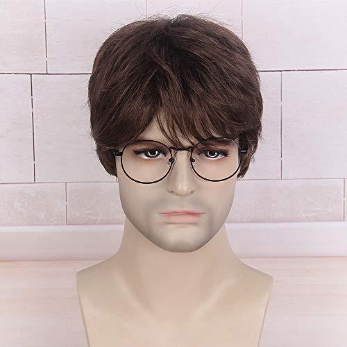 STfantasy Marrone Corti a strati Parrucche da Uomo Cosplay Harry Potter Parrucche Quotidiano Costume Party Carnevale