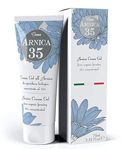 Dulàc - Crema Gel all'Arnica concentrata al 35% - 75 ml - LA PIÙ CONCENTRATA - con Arnica Montana da Agricoltura Biologica - 100% Made in Italy - Arnica 35