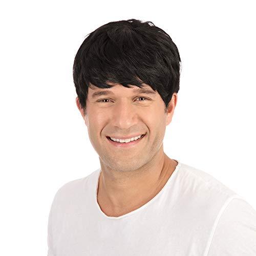 Bristol Novelty BW068 - Parrucca da uomo, taglia unica, colore: Nero