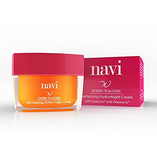 NAVI Revitalizing Hydro-Night Cream   Crema Viso Notte Illuminante con Vitamina E & Acido Ialuronico   Maschera Ultra-Idratante Antirughe & Antimacchie, Stimolante Collagene - 50 ml